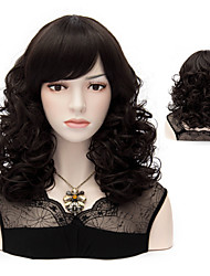 Natural Color Curly  Wave  Wigs Hair Beautiful Synthetic Hair Wigs