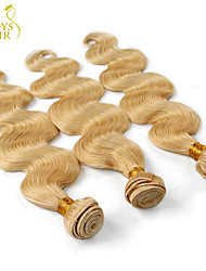 "3 Pcs Lot 14""-30"" Platinum Bleach Blonde 613# Virgin Hair Peruvian Body Wave Remy Human Hair Weave Bundles Machine Wefts"