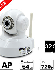 Besteye® 32GB TF Card and H.264 WIFI Camera IP HD 720P 1.0M Pixels PTZ IR Night Vision Wired or Wireless Camera WIFI