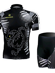 Dragon And Tiger Short Sleeved Jersey Suit, Moisture Cycling Wear, Motor Function Material