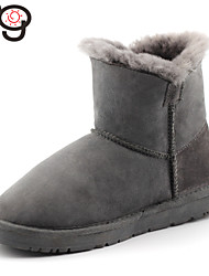 MG Bailey Button Toddlers Gray Color Twinface Sheepskin Boot Winter Snow Real Fur Boots