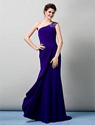 ts-Couture-Abendkleid - Mantel / Spalte einer Schulter bodenlangen