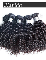4 pcs/Lot Top Quality Peruvian Human Hair, Virgin Peruvian Curly Wavy Hair