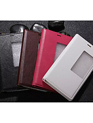 For Huawei Case / P8 with Stand / with Windows / Auto Sleep/Wake / Flip Case Full Body Case Solid Color Hard PU Leather for HuaweiHuawei