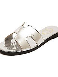 Women's Shoes  Flat Heel Mary Jane Sandals Casual White/Silver