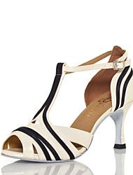 Zapatos de baile ( Marfil ) - Salsa - No Personalizable - Tacón de estilete
