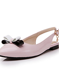 Women's Shoes Patent Leather Flat Heel Pointed Toe Flats Dress Black/Pink/White