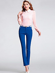 Women's Casual Micro-elastic Thin Skinny Pants (Cotton)without Belt