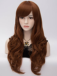 European and American Wind Big Brown Wavy Hair Nylon Hair Wig