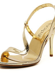 Women's Shoes Stiletto Heel Heels / Ankle Strap Sandals Wedding / Party & Evening / Dress Silver / Rose Gold