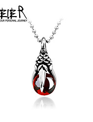 Man's Super Cool Black/Red CZ Eagle Claw Pendant For Man