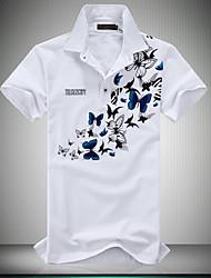 Polo Décontracté / Grandes Tailles Pour des hommes Manches Courtes A Motifs Coton / Polyester
