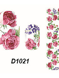 Fashion Flower Nail Art Glitter Sticker