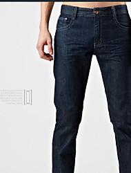 Men's Sweatpants , Casual/Work/Formal/Sport/Plus Sizes Pure Denim/Elastic