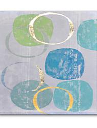 copie abstraite de décoration murale avec une touche de la main sur toile galerie wrap