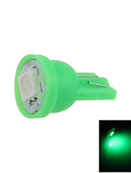 1X  Green T10 1 SMD 5050 LED car Clearance Instrument Lamp Roof Light DC 12V A001