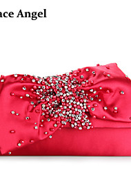 Women's Sequins Beads Studded Bow Bridal Bridesmaid Clutch Prom Evening Handbag