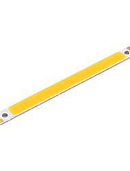 youoklight® 2pcs 18w 1700lm 6500k cob levou barra de luz branca - prata + amarelo (12 ~ 14V)