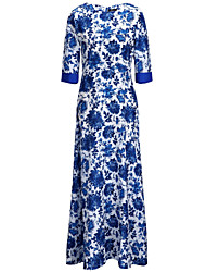 Women's Sexy Beach Party Casual Floral Maxi Dress