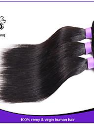 cheveux brésilienne vierge droite 3 pcs 7a pas cher cheveux humains cheveux raides armure brésilienne vierge non traitée
