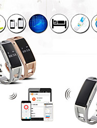 Smart Wrist Watch Stainless Sports  Bluetooth Whatch Band With Sleep Monitor Pedometer Reminder Anti-Lost For Phone