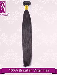 """1pcs / lot 12 """"-30"""" brasileiro reto de seda extensões de cabelo humano cabelo preto cabelo virgem tece naturais"""