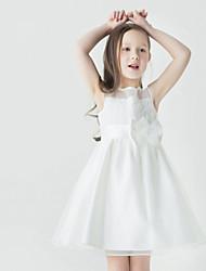 Blumenmädchen Kleid - Tülle - A-Linie - mini - Ärmellos