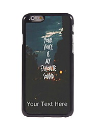 Personalized Gift You Voice is My Favorite Sound Design Aluminum Hard Case for iPhone 6