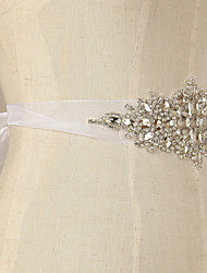Rhinestone Wedding Dress Belt / Ribbon Belt