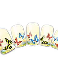 French Butterfly Nail Art Stickers