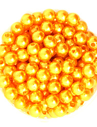 Beadia 64g(Approx 300Pcs)  ABS Pearl Beads 8mm Round Gold Yellow Color Plastic Loose Beads DIY Accessories