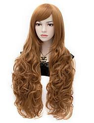 Elizabeth Long Curly Brown Cosplay Wigs Full Hair Wig