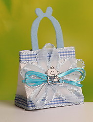 New!! Nonwoven Fabric Wedding Candy Favor Bags Portable Favor Gift Bags with Baby & Ribbon  Set of 12