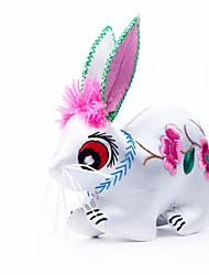 Pendentif-douze porcelaine broderie à la main zodiac lapin stéréoscopique