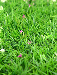 1PCS Artificial Lawn Simulation Grass with Flowers Home / Garden Decor (30*30cm)