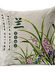 estilo tradicional do país algodão orquídea chinesa / fronha decorativo linho