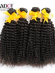 """8 """"-30"""" natürliche schwarze 6a malaysische lockige Haare weben 4pcs / lot 100% unverarbeitete malaysisches reines verworrenes lockiges"""