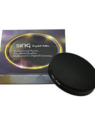 cubierta protectora de la lente de la cámara filtro metálico de rosca en la tapa de la lente