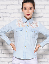 XBZ®Women's Ornamental Engraving Skinny Shirt