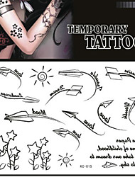 Tattoo Stickers Non Toxic/Pattern/Lower Back/Waterproof Others Adult/Teen Black Paper 1 17*16 Boom