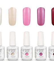 Gelpolish Nail Art Soak Off UV Nail Gel Polish Color Gel Manicure Kit 5 Colors Set S113