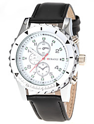 Men's Dress Style Leather Band Quartz Wrist Watch
