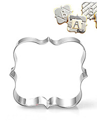 Square Blessing Frame Shape Cookie Cutters  Fruit Cut Molds Stainless Steel