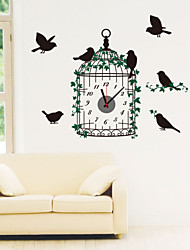 Modern Style DIY Creative Cage Mute Wall Clock