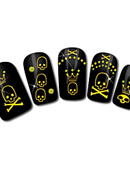 Skull Design Hot Stamping Nail Art Stickers