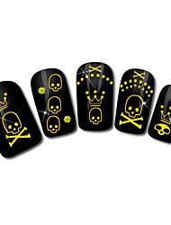 lebka designu horké ražby nail art samolepky