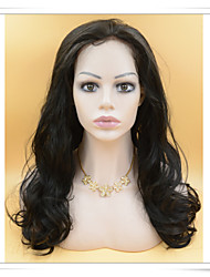 20-Zoll-synthetische Spitzefrontseitenperücken Körperwelle photo Farbe # 1b Länge lfs007