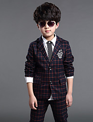 Boy's All Seasons Inelastic Thin Long Sleeve Suits & Blazers/Clothing Sets (Cotton Blends)