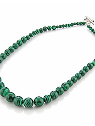 Round Ball Green Malachite Loose Beads Necklace 4-12mm HOT