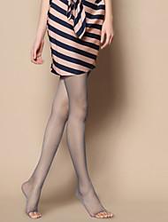 Women Pearl Bright Silk Core Spun Yarn Ultrathin Open Toe Pantyhose